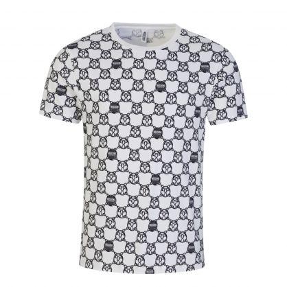 Underwear White Chain Print T-Shirt