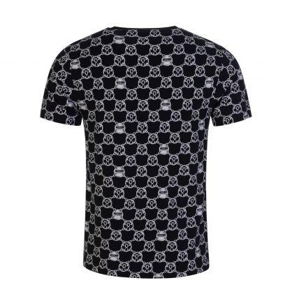 Black/Silver Chain Print T-Shirt