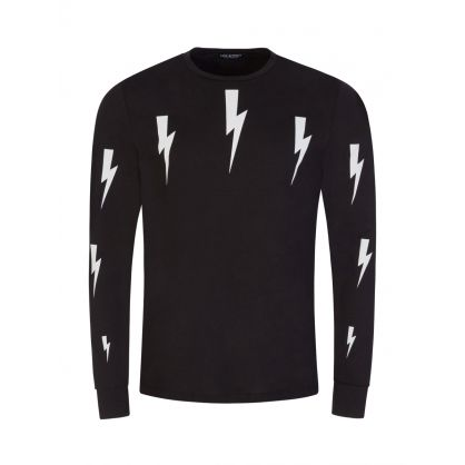 Black Halo Bolt Long Sleeve T-Shirt