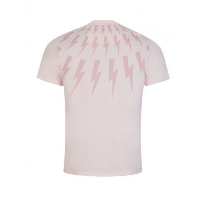 Pink Fair-Isle Thunderbolt Print T-Shirt