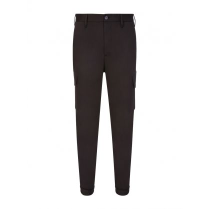 Black Travel Cargo Trousers