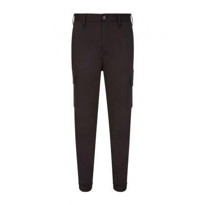 Black Travel Cargo Trousers