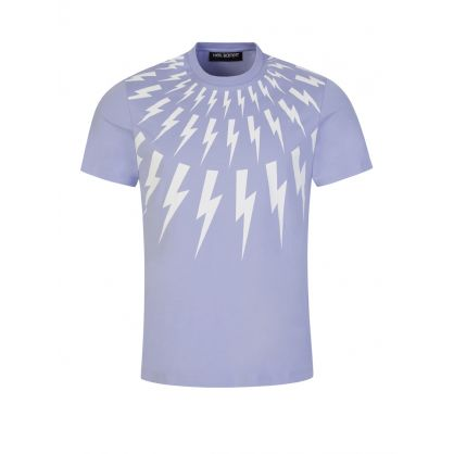 Lilac Fair-Isle Thunderbolt Print T-Shirt