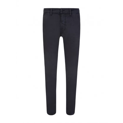 Navy Slim Adam Chinos
