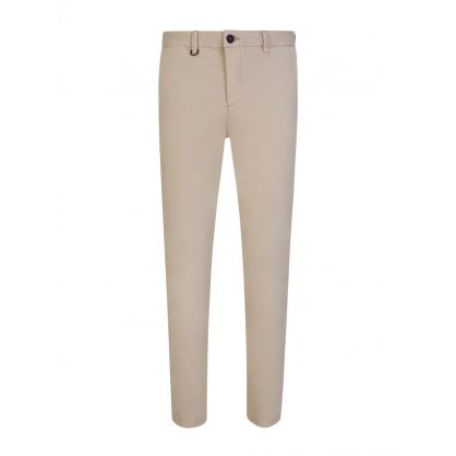 Beige Clash Slim Fit Chinos