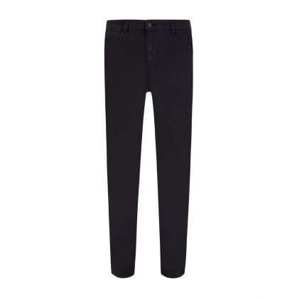 Washed Black Clash Slim Fit Chinos