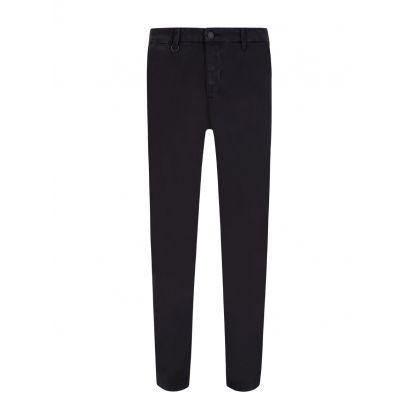 Washed Black Clash Slim Fit Jeans
