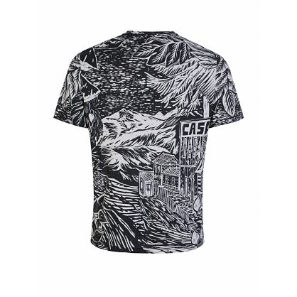 Black Chilean Woodcut Print T-Shirt