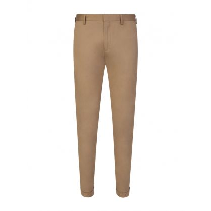 Beige Chino Slim Fit Trousers