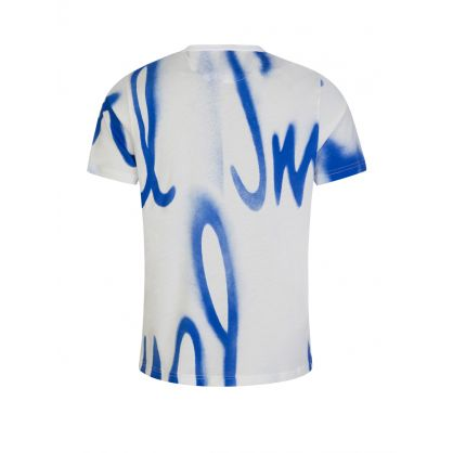 White Spray Logo T-Shirt