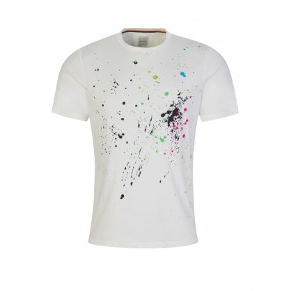 Cream Paint Splatter T-Shirt