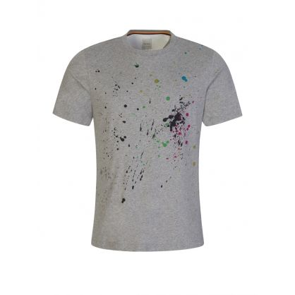 Grey Paint Splatter T-Shirt