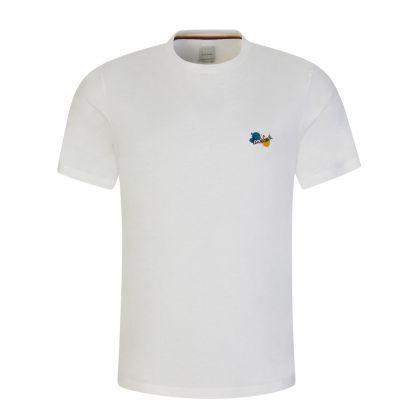 White Organic Cotton 'Paint Splatter' T-Shirt