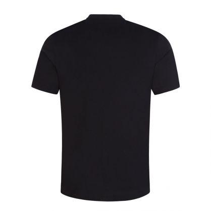 Black Organic Cotton 'Paint Splatter' T-Shirt