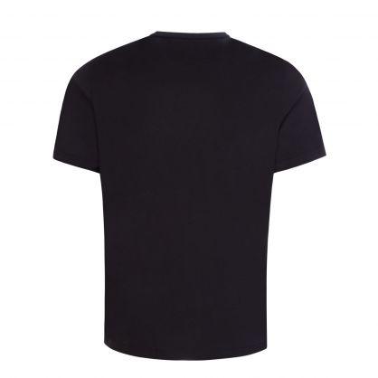 Black 90s Floral Print T-Shirt