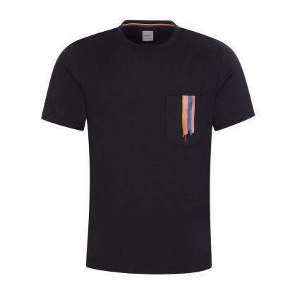 Black Brush Stroke Pocket T-Shirt