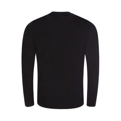 Black Long Sleeve Sleep T-Shirt