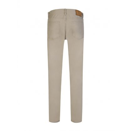 Beige Slim Straight Chinos