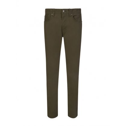 Green 5 Pocket Chinos