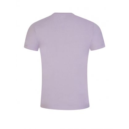 Mauve Cotton Basic Logo T-Shirt