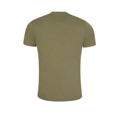 Green Cotton Basic Slim-Fit T-Shirt