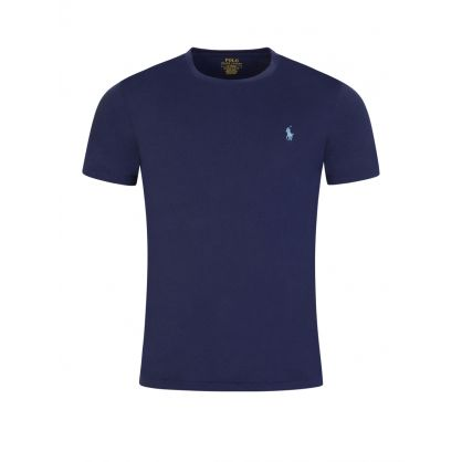 Blue Jersey Basic T-Shirt