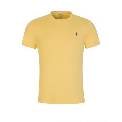 Yellow Cotton Basic Logo T-Shirt