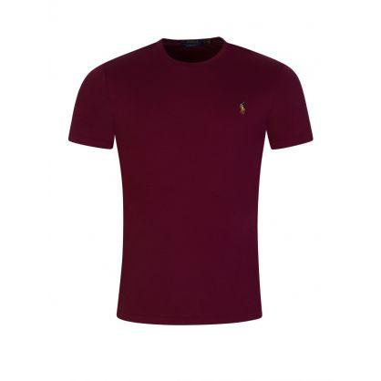 Burgundy Pima Soft-Touch T-Shirt
