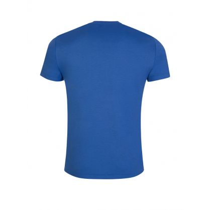 Blue Custom Slim-Fit Pima Cotton T-Shirt