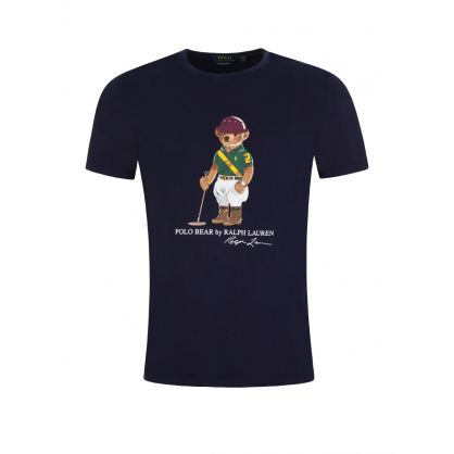 Navy Riding Polo Bear T-Shirt