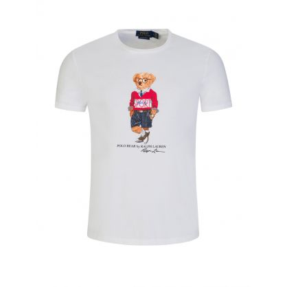 White Sport Bear T-Shirt