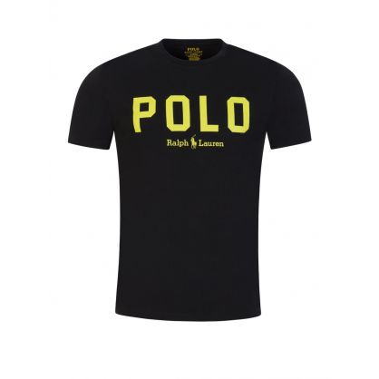 Black Polo Script T-Shirt