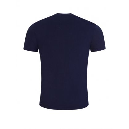 Navy T-Shirt with Green Logo