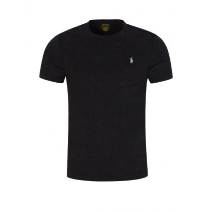 Black Custom Slim Fit Crewneck T-Shirt