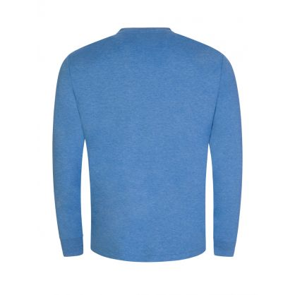 Blue Custom Slim-Fit Long-Sleeve T-Shirt