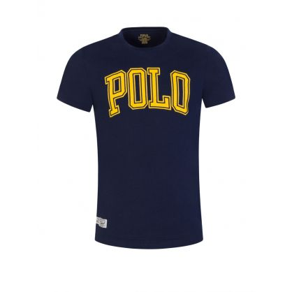 Navy Custom Slim-Fit Polo Logo T-Shirt