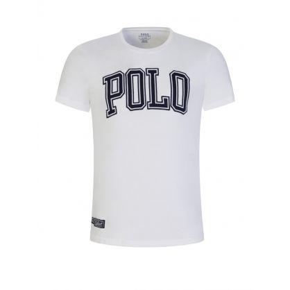 White Custom Slim-Fit Polo Logo T-Shirt