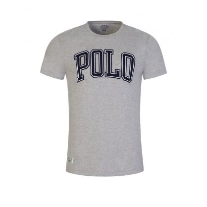 Grey Custom Slim-Fit Polo Logo T-Shirt