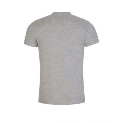 Grey Custom Slim-Fit Polo Logo T-Shirt