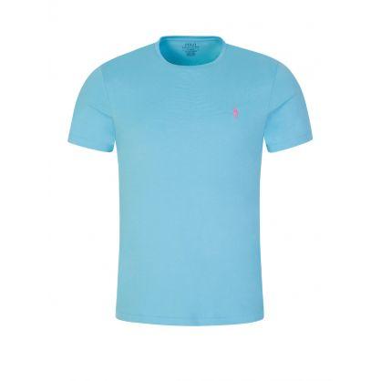 Turquoise Custom Slim Fit T-Shirt