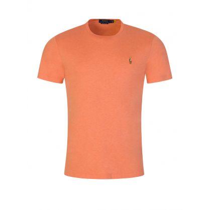 Orange Interlock Cotton T-Shirt