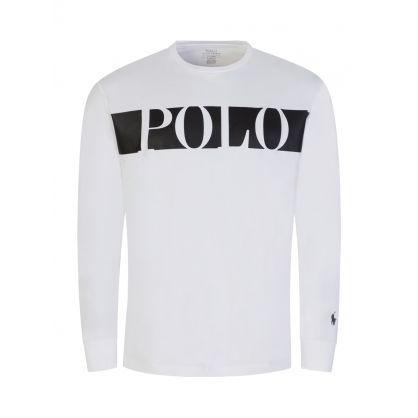 White Long Sleeve POLO T-Shirt