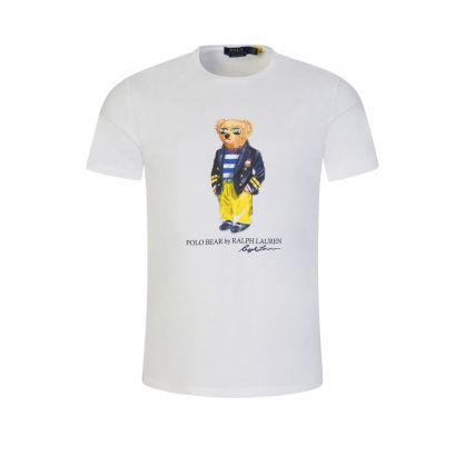 White Marina Polo Bear Jersey T-Shirt