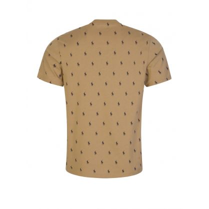 Brown Signature Polo Logo T-Shirt