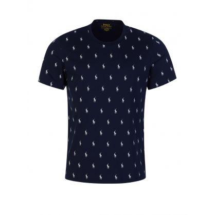 Navy Signature Pony T-Shirt