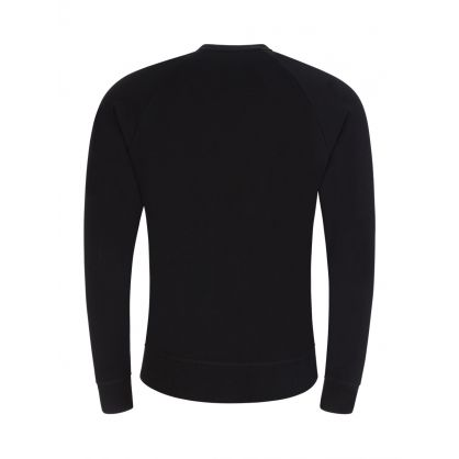 Black Long-Sleeve Cotton Lounge T-Shirt