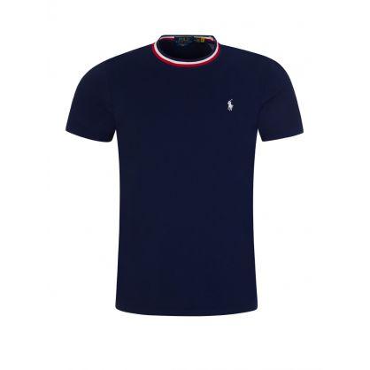 Navy Tipped T-Shirt