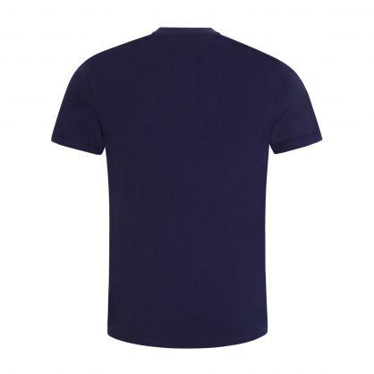 Navy Multicoloured Big Pony T-Shirt