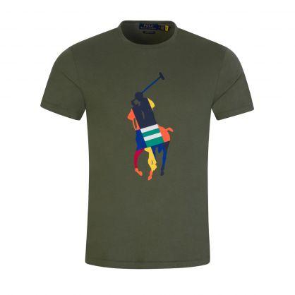 Green Muticoloured Big Pony T-Shirt