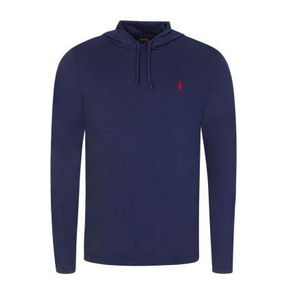 Navy Hooded Long-Sleeve T-Shirt